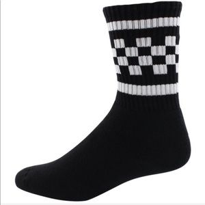 Other - NWOT USA-Made Checkered Crew Socks